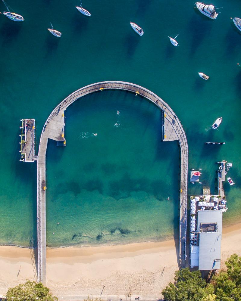 Instagrammable drone spots in Sydney: Balmoral Beach