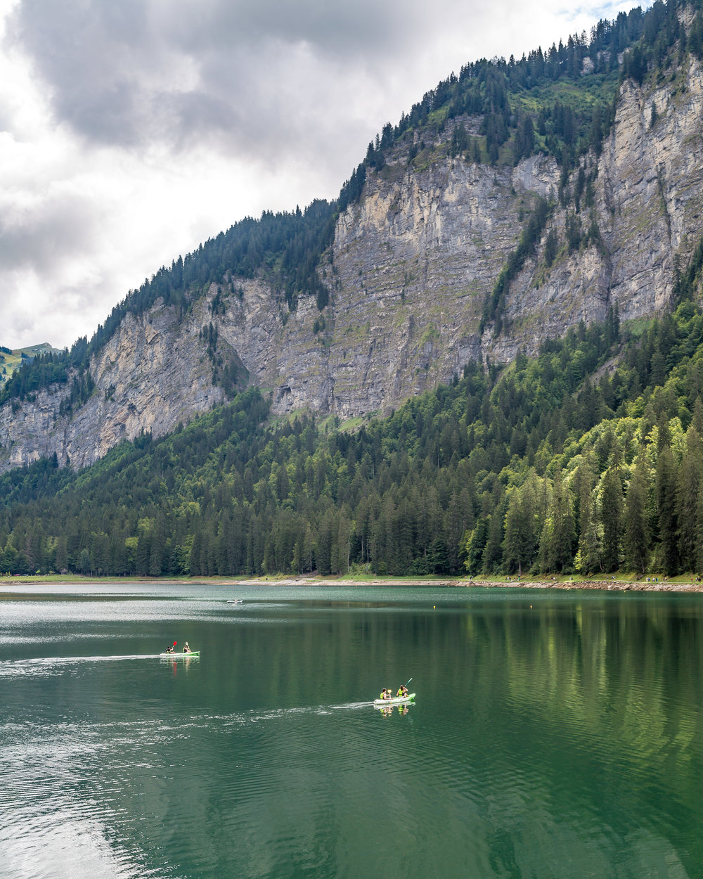 Fun things to do in Morzine in the Summer - Kayak at Lake Montriond