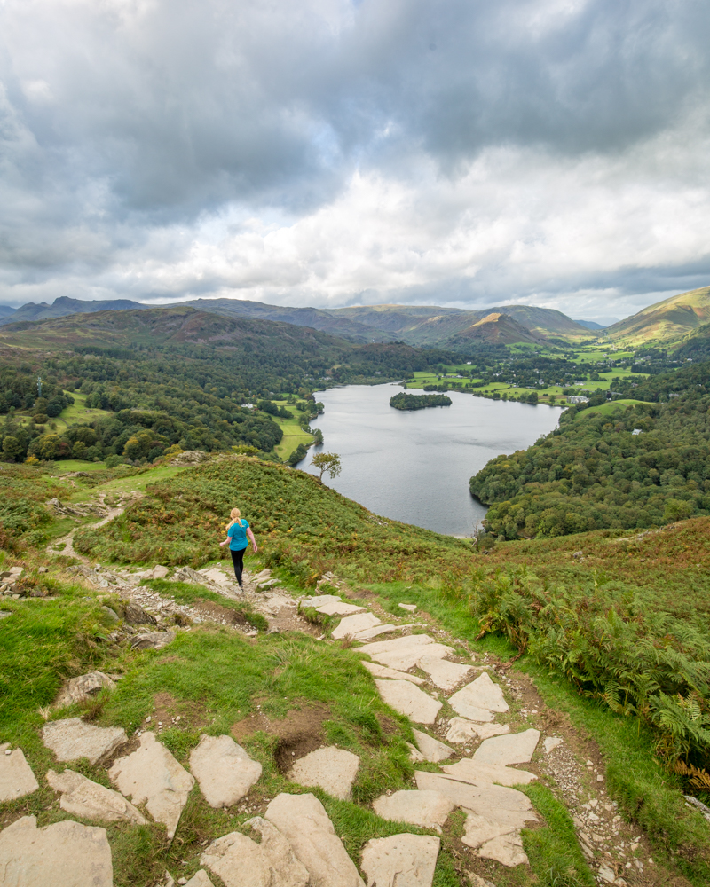 The walk down to Grassmere - Loughrigg Fell