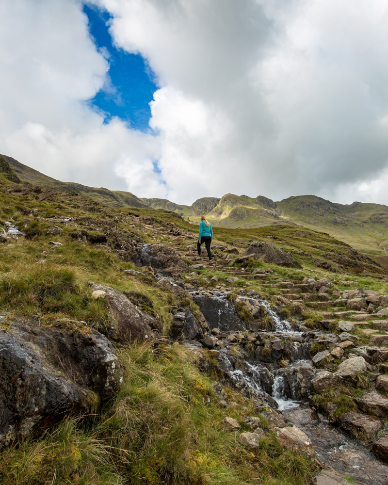 Crinkle Crags - The climb uphill