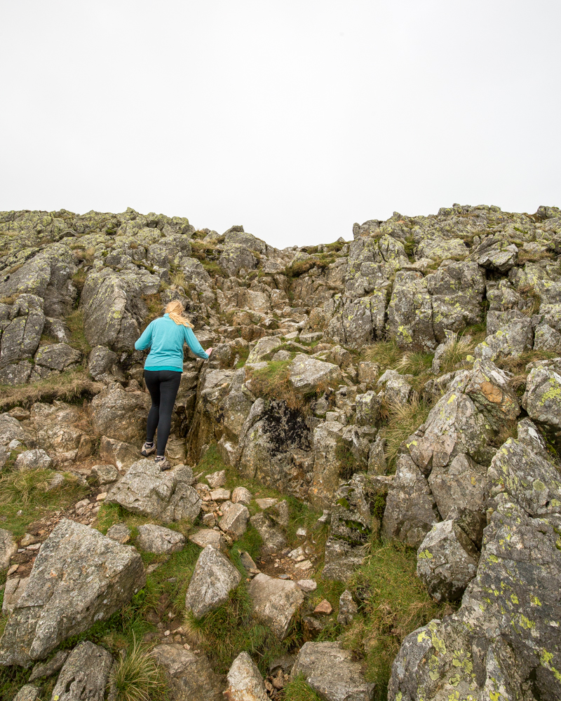 Scramble on the first Crinkle - Crinkle Crags