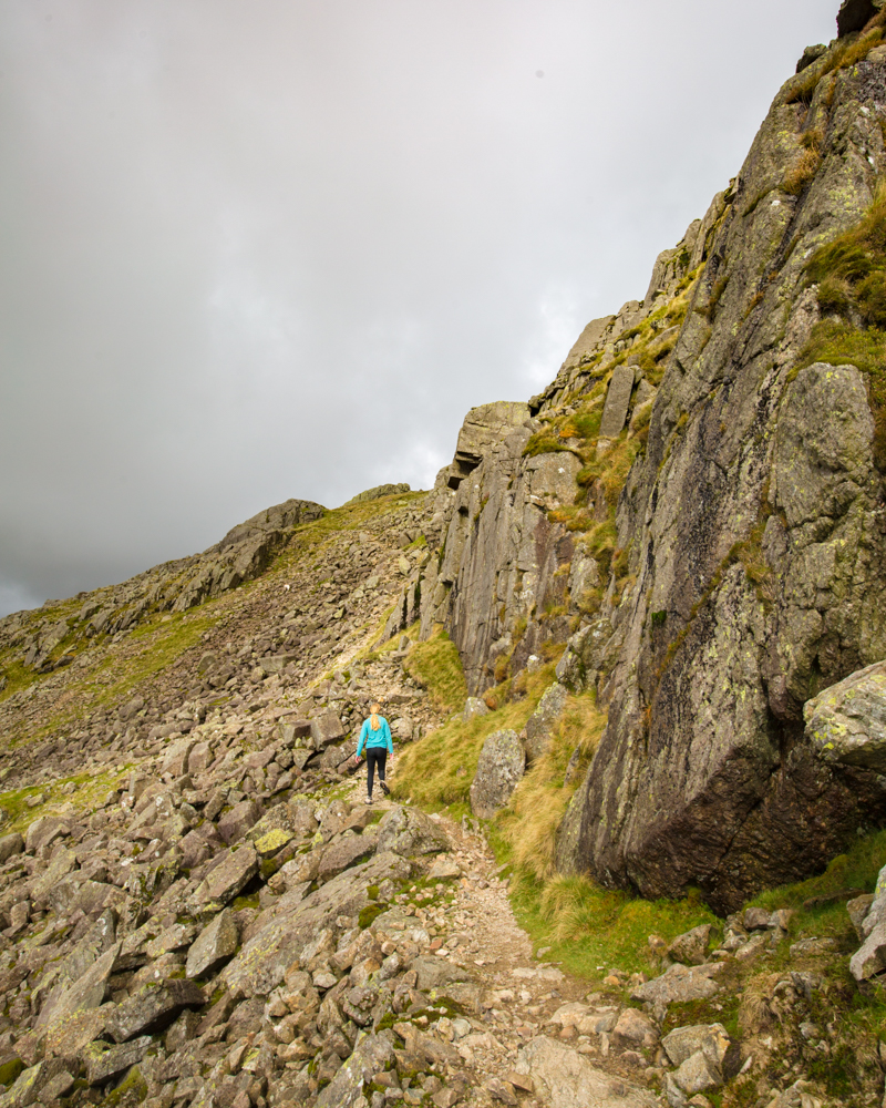 The path round the Bad Step, Crinkle Crags