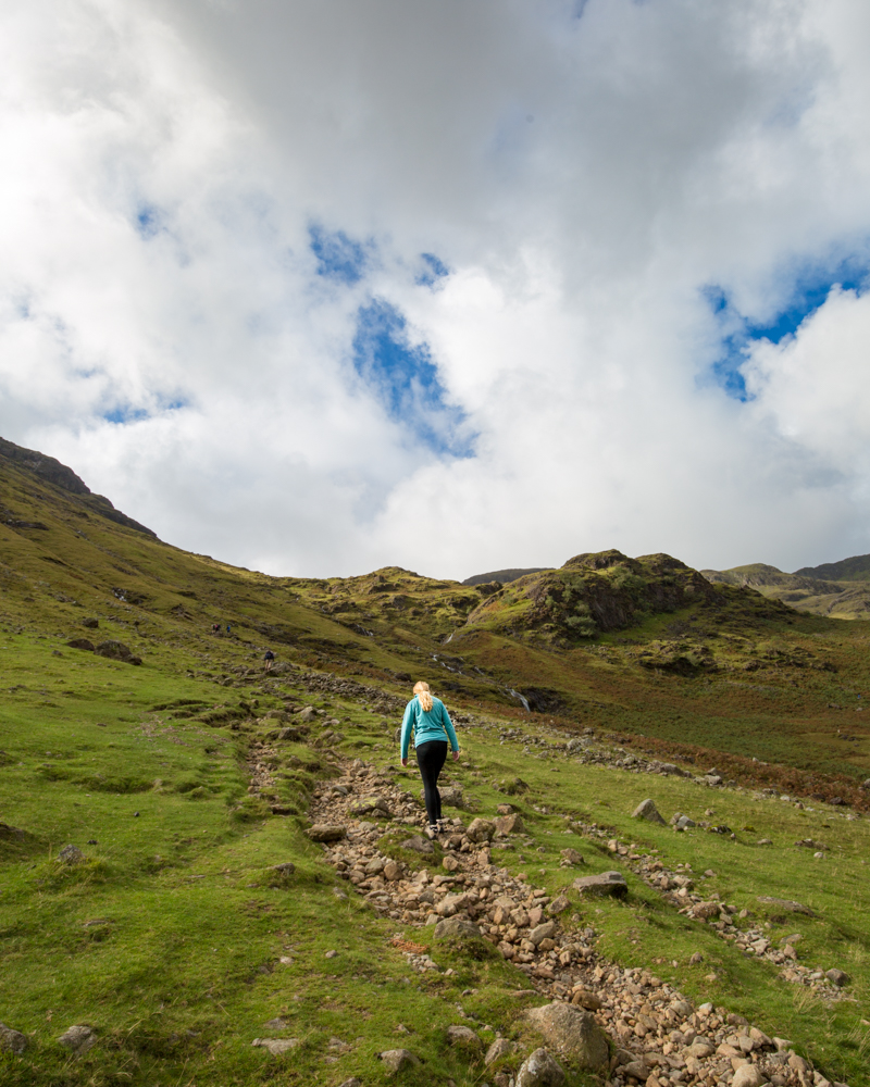 Crinkle Crags difficulty - Climbing to the top