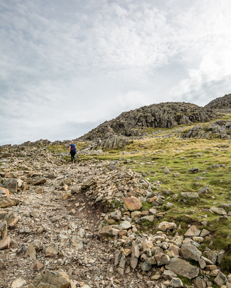 State of the path on Scafell Pike