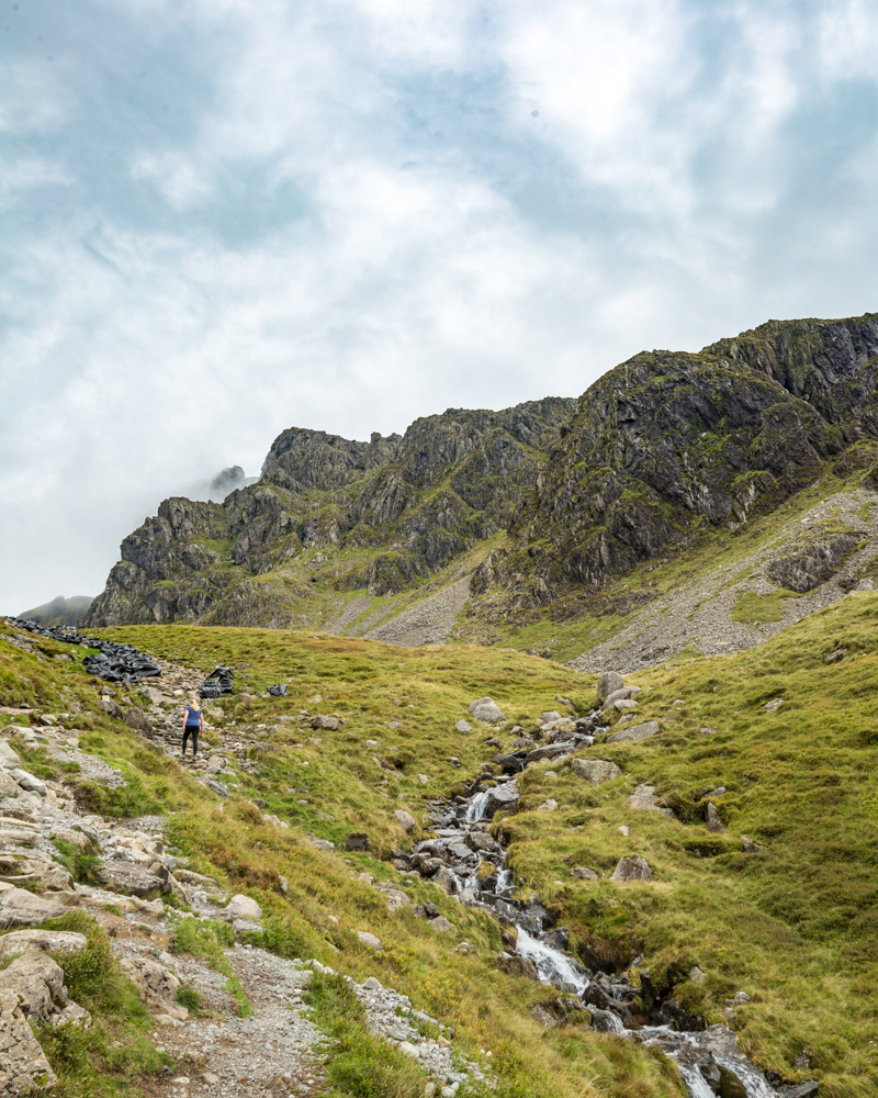 View of Scafell on the path