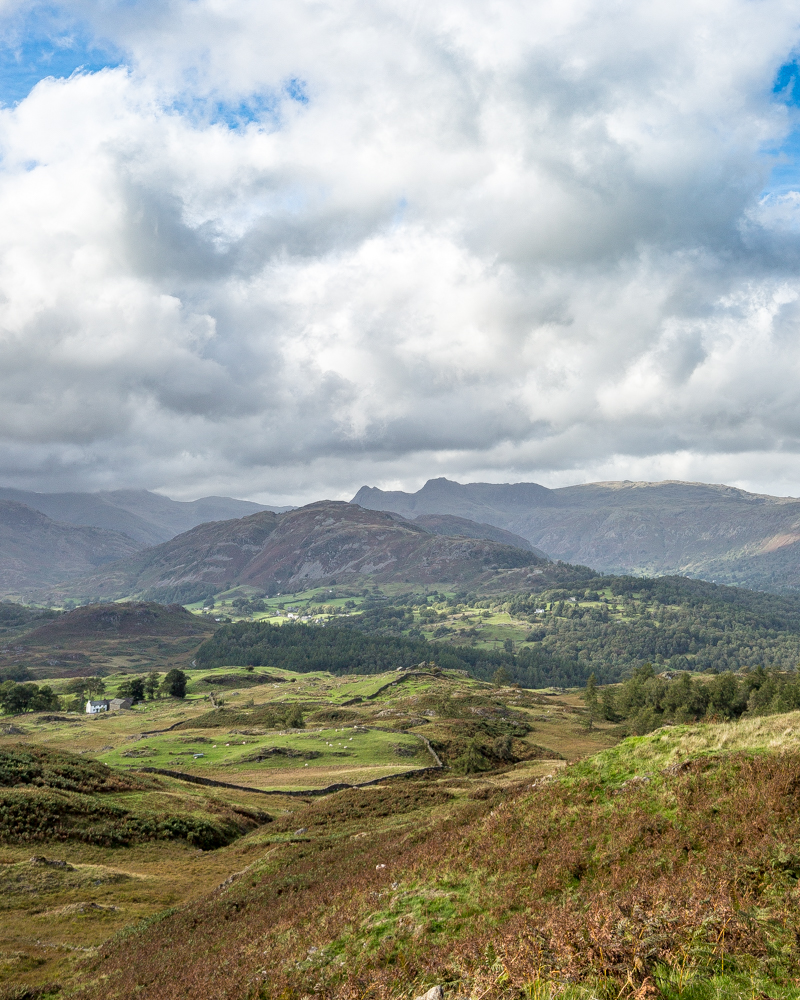 Views of Great Langdale from Black Fell