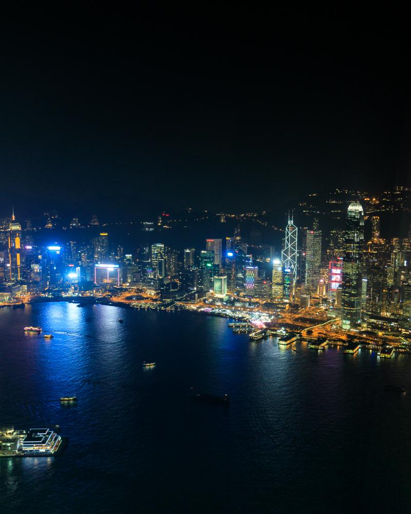 Hong Kong Itinerary - Night time light show