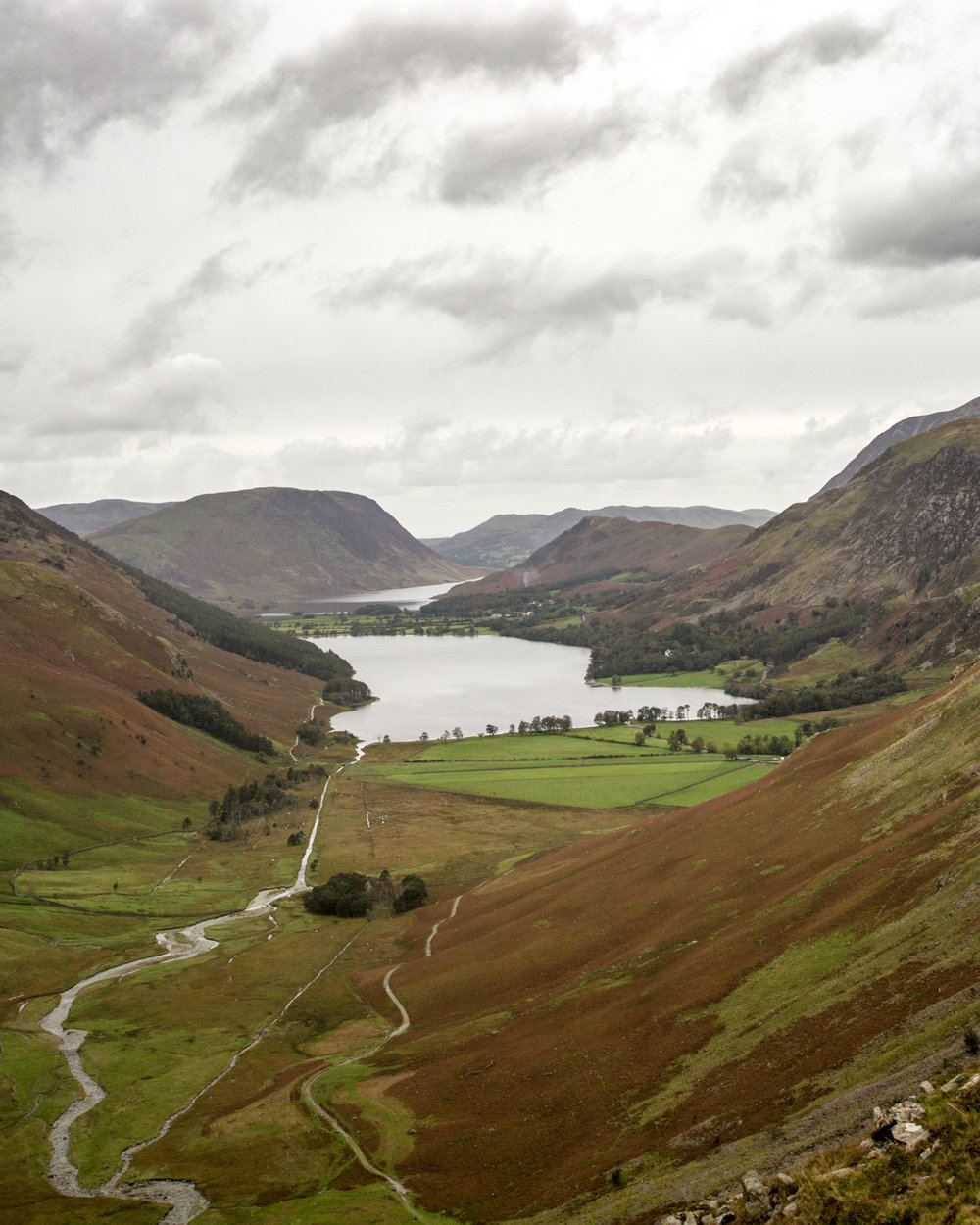 The view of Buttermere from Haystacks