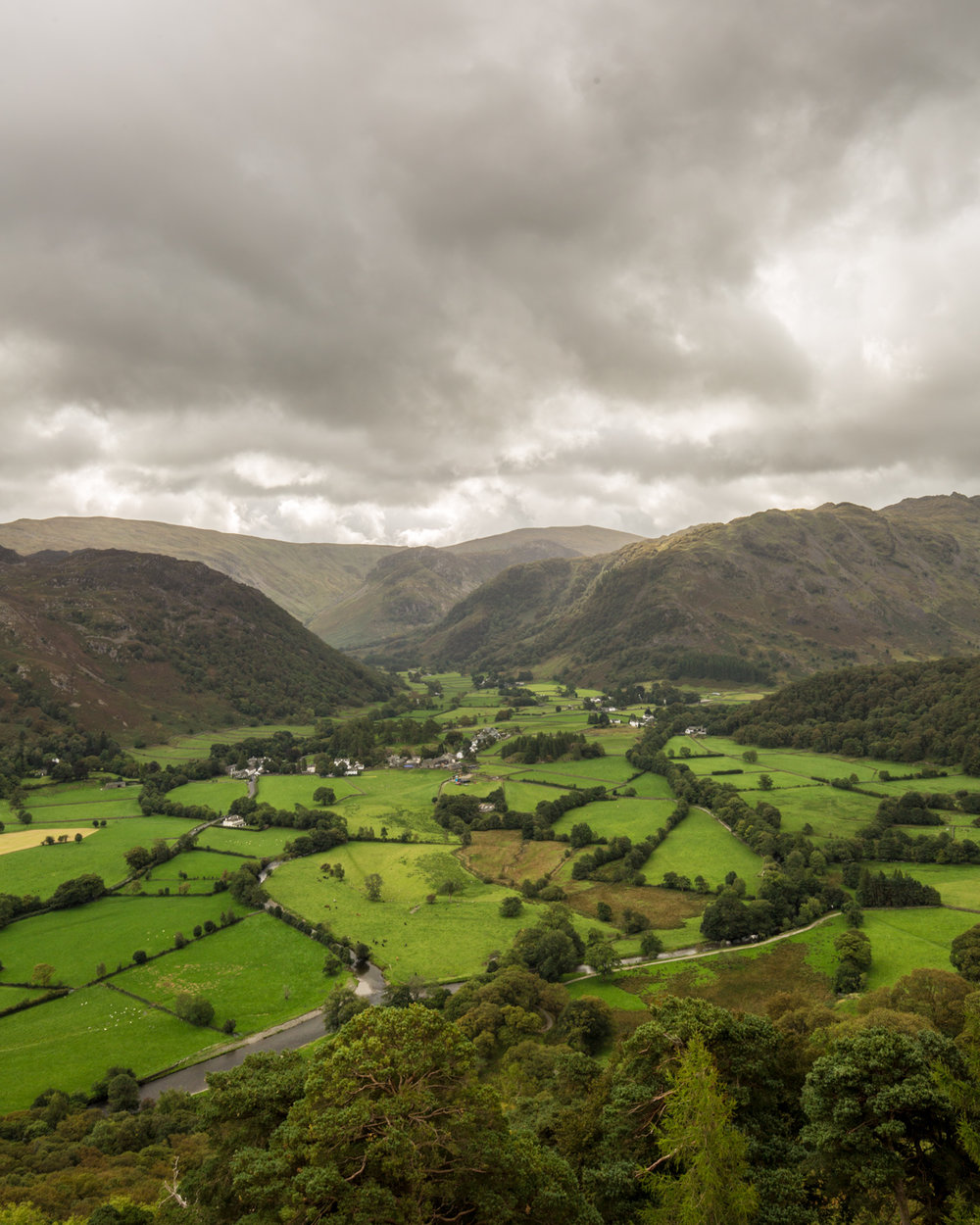 The view of Borrowdale from Castle Crag