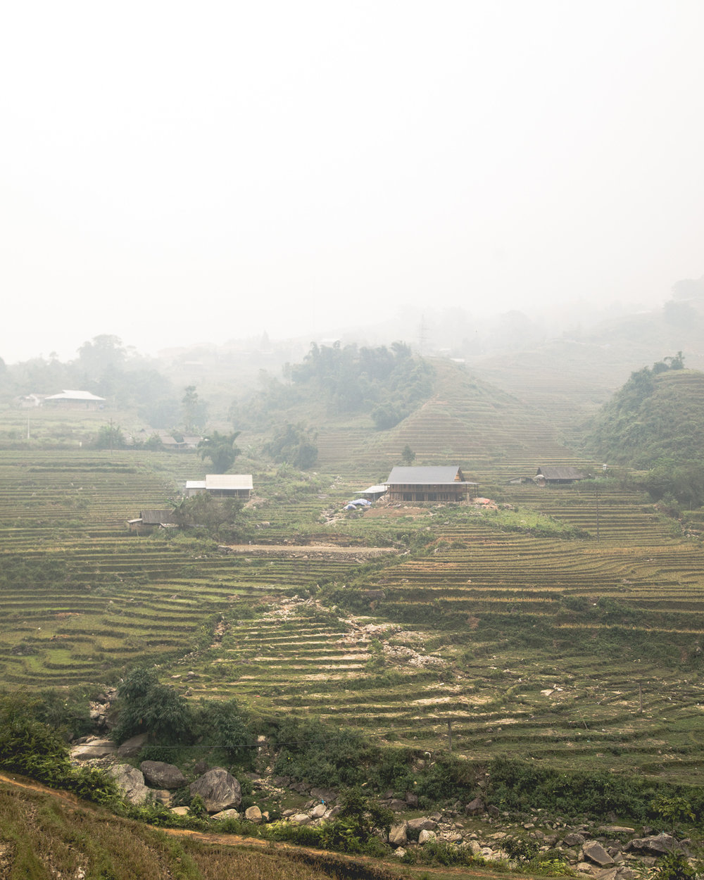 The village of Ta Van, away from the busy roads