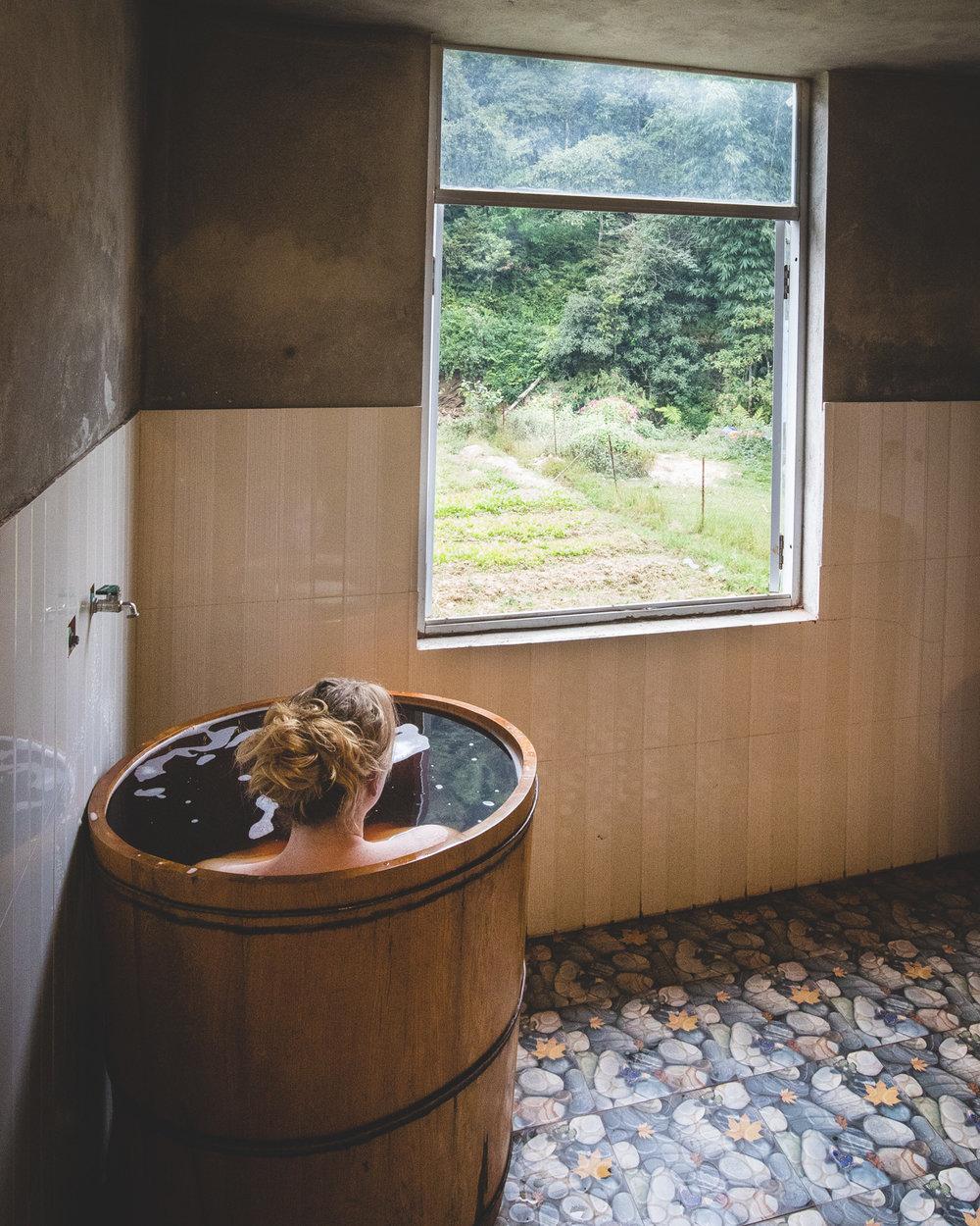Herbal baths in Ta Phan, Sapa