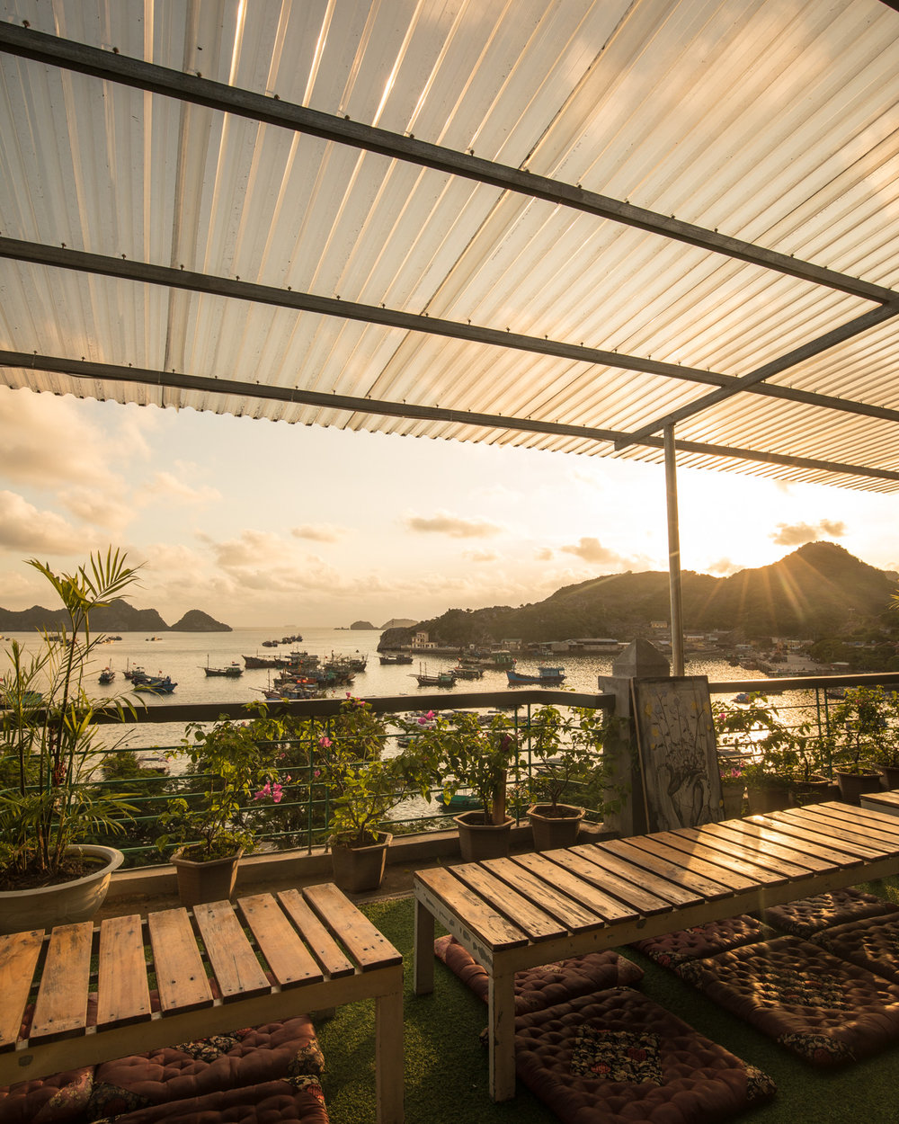 The view from Mona on Cat Ba Island
