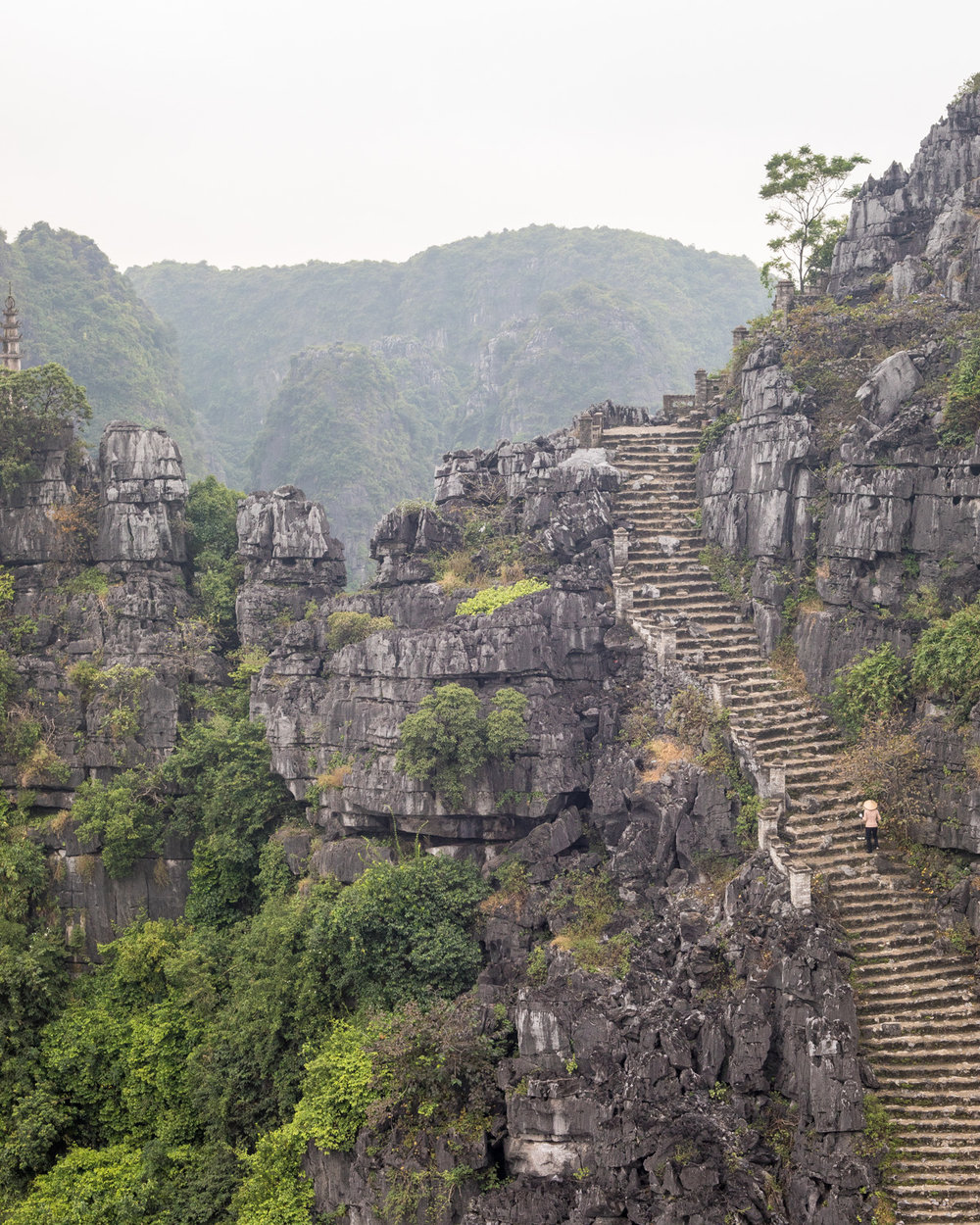 Stairs to Lying Dragon Mountain, Mua Caves - Ninh Binh, Vietnam