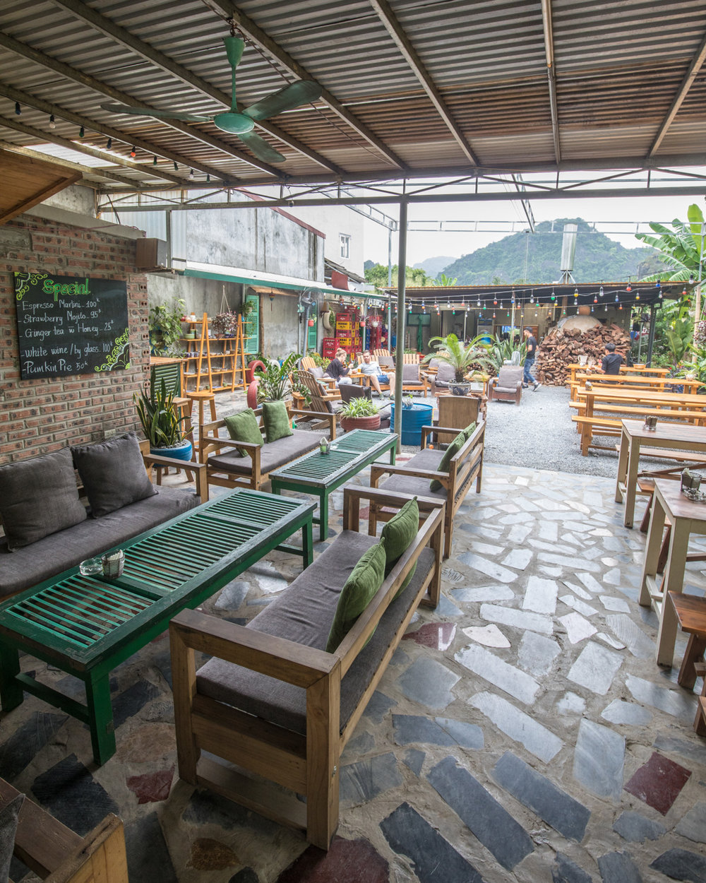 Chookies beer garden, Ninh Binh Vietnam