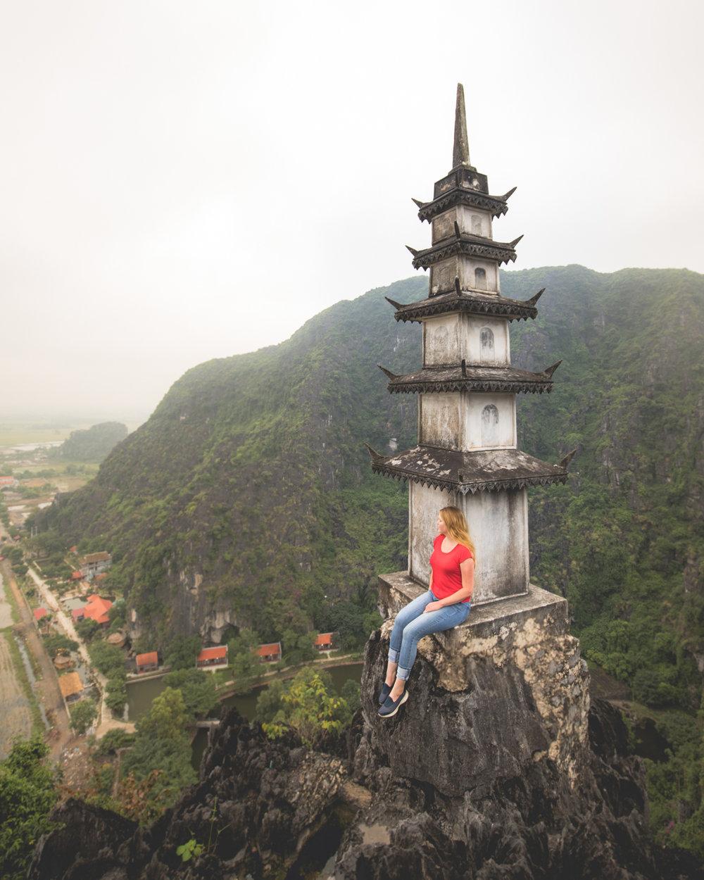The views at the top of Hang Mua - Ninh Binh Vietnam
