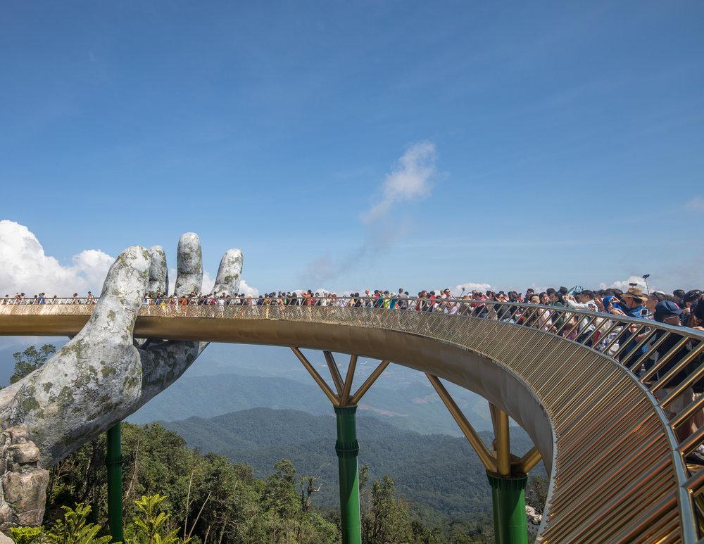 Golden Bridge crowds
