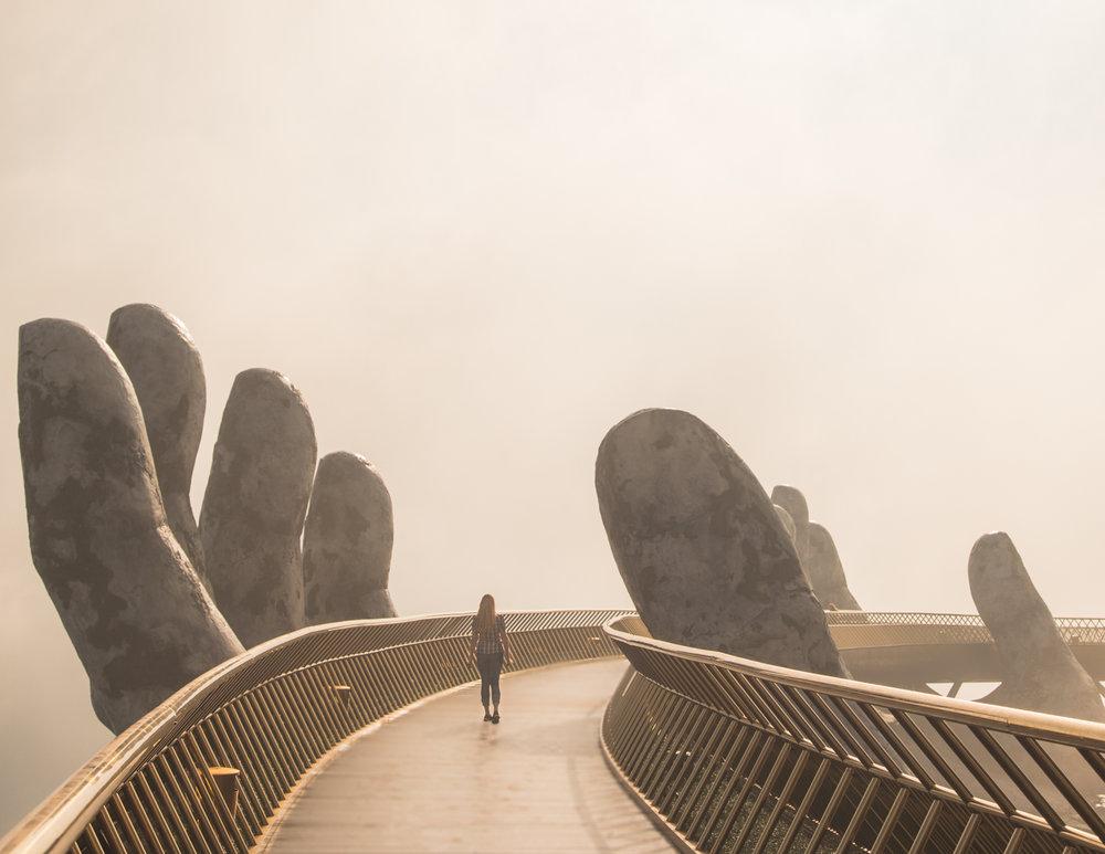 Early morning at the Golden Bridge Da Nang