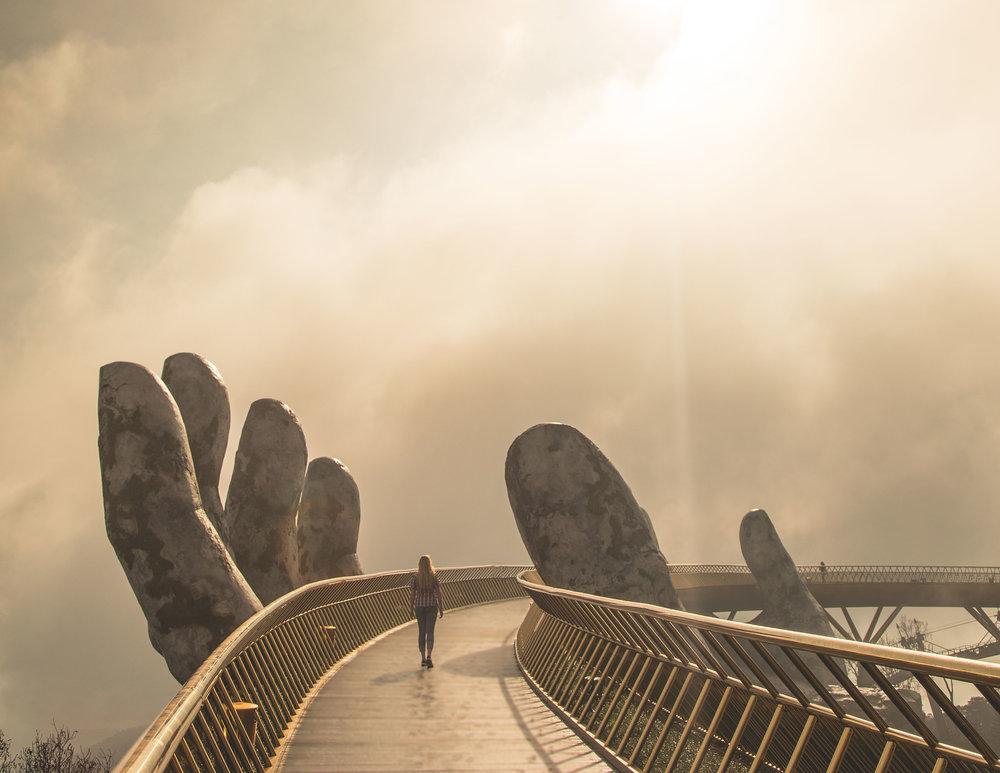 Golden Hand Bridge in Da Nang, Ba Na Hills Vietnam
