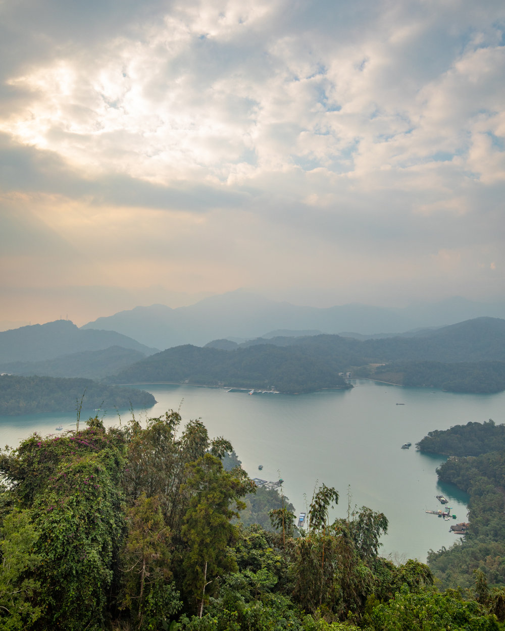 The view from the top of Cien Pagoda in Sun Moon Lake