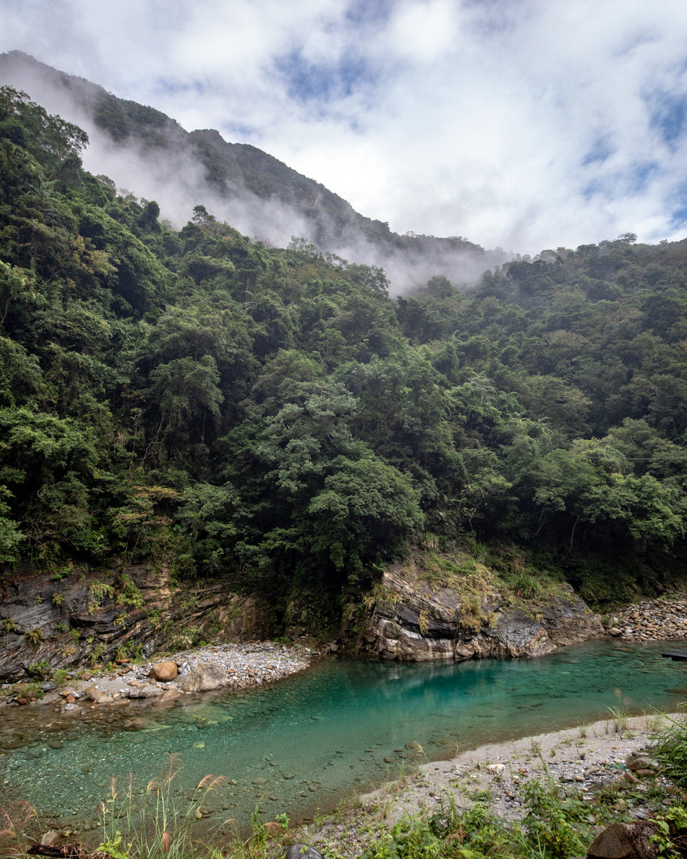 The mountains in the Shakadang Trail, Taroko Gorge