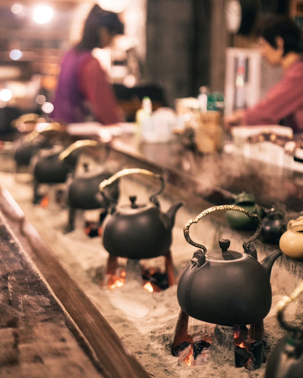 Jiufen Tea House - The kettles on the boil