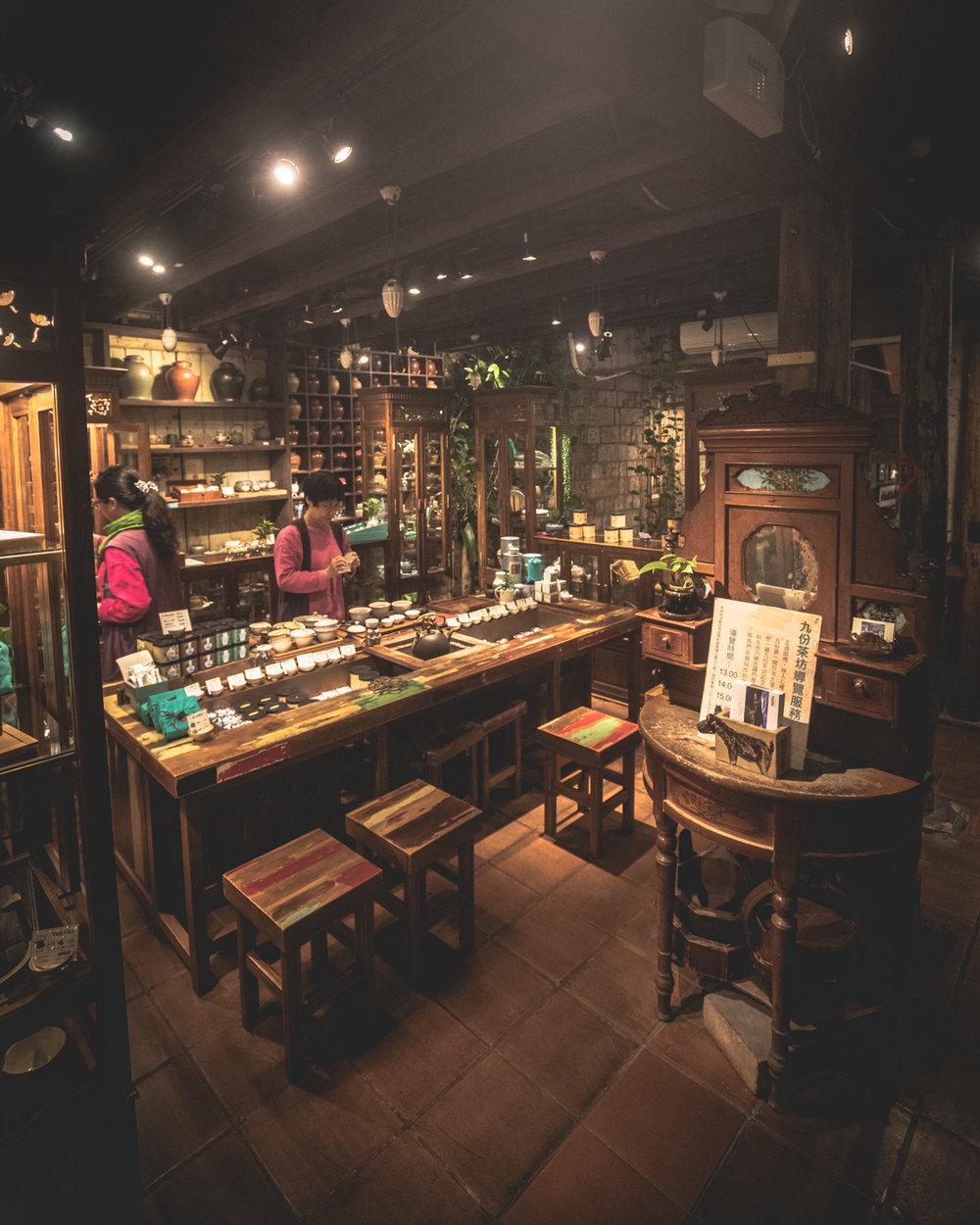 Jiufen Tea House - The inside