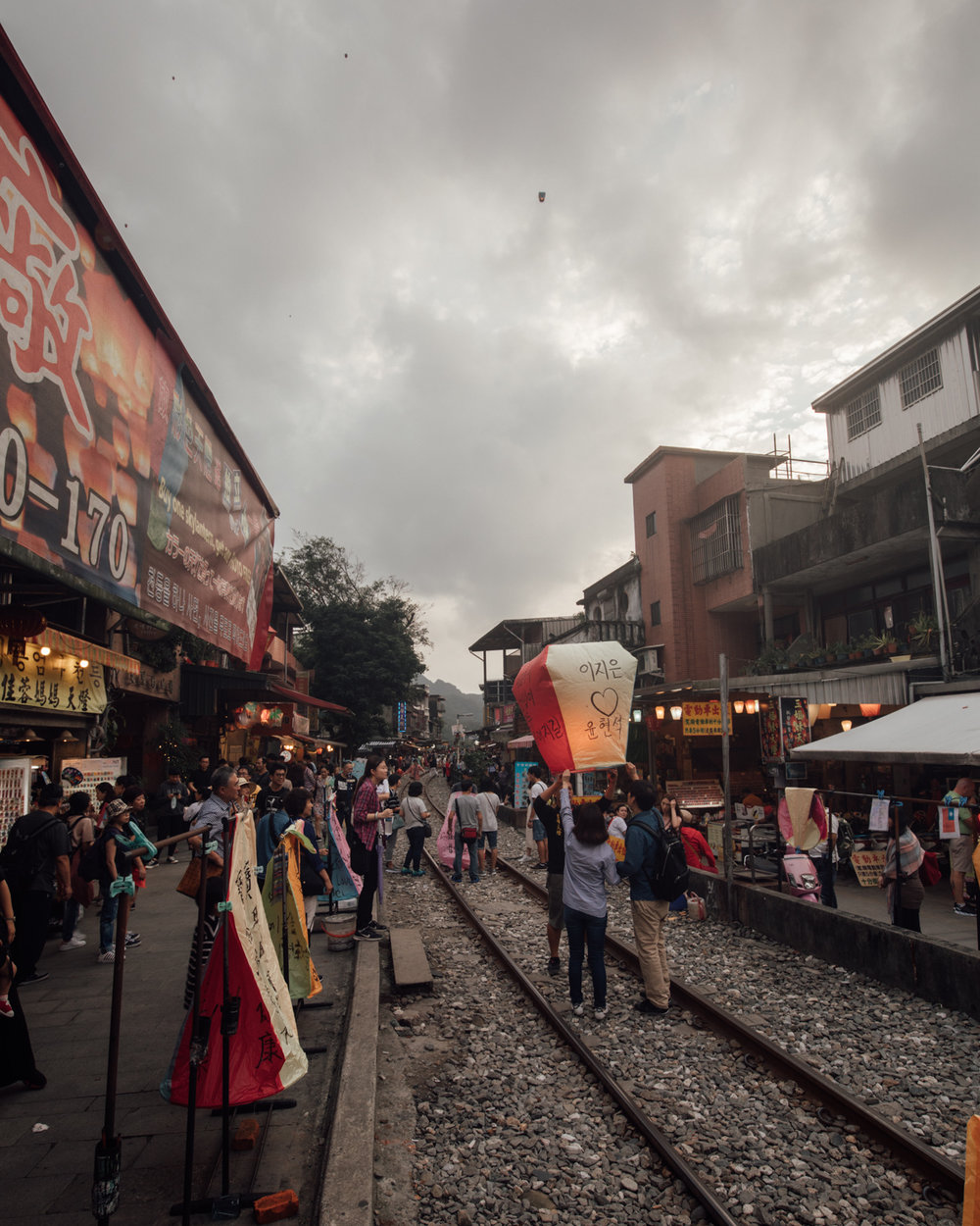 Shifen Lanterns - a tourist trap that creates trash everywhere