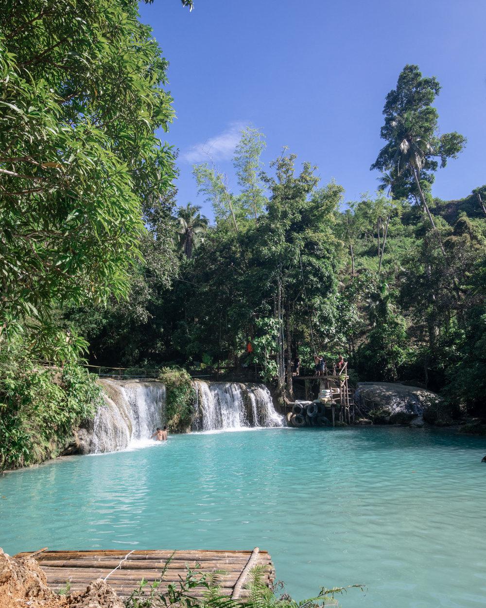 Cambugahay Waterfall in Siquijor Island