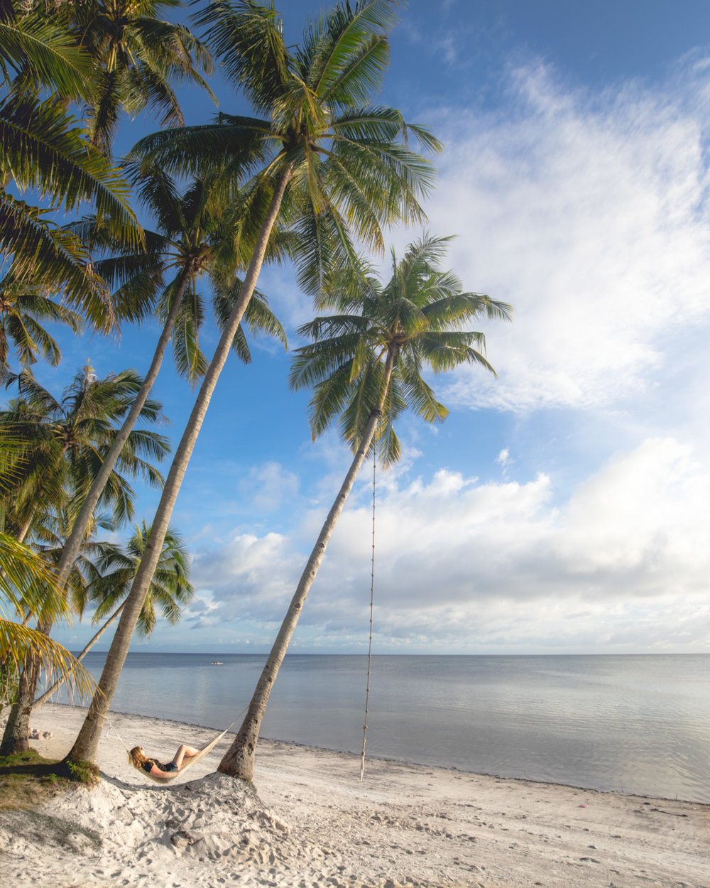 The hammocks at Coral Cay Resort, Siquijor, The Philippines