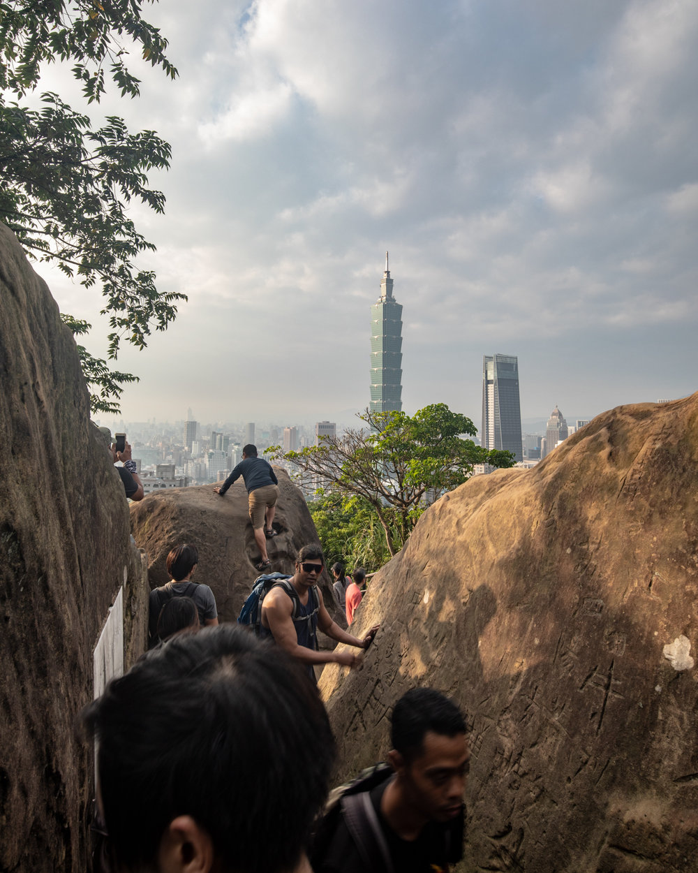 The queues for Elephant Mountain Rock View