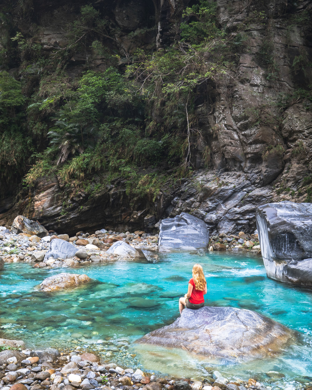 Photography spots in Taiwan - Shakadang Walk in Taroko Gorge