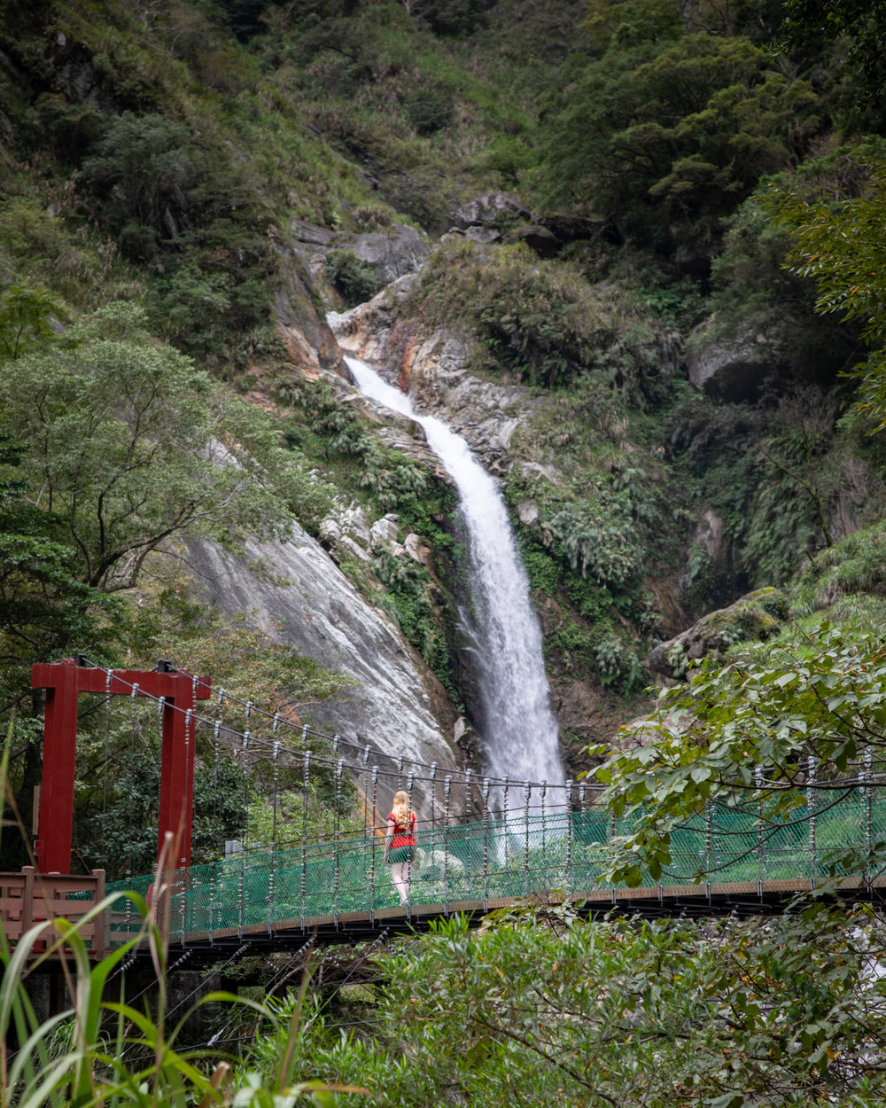 Photography spots in Taiwan - Baiyang Waterfall, Taroko Gorge