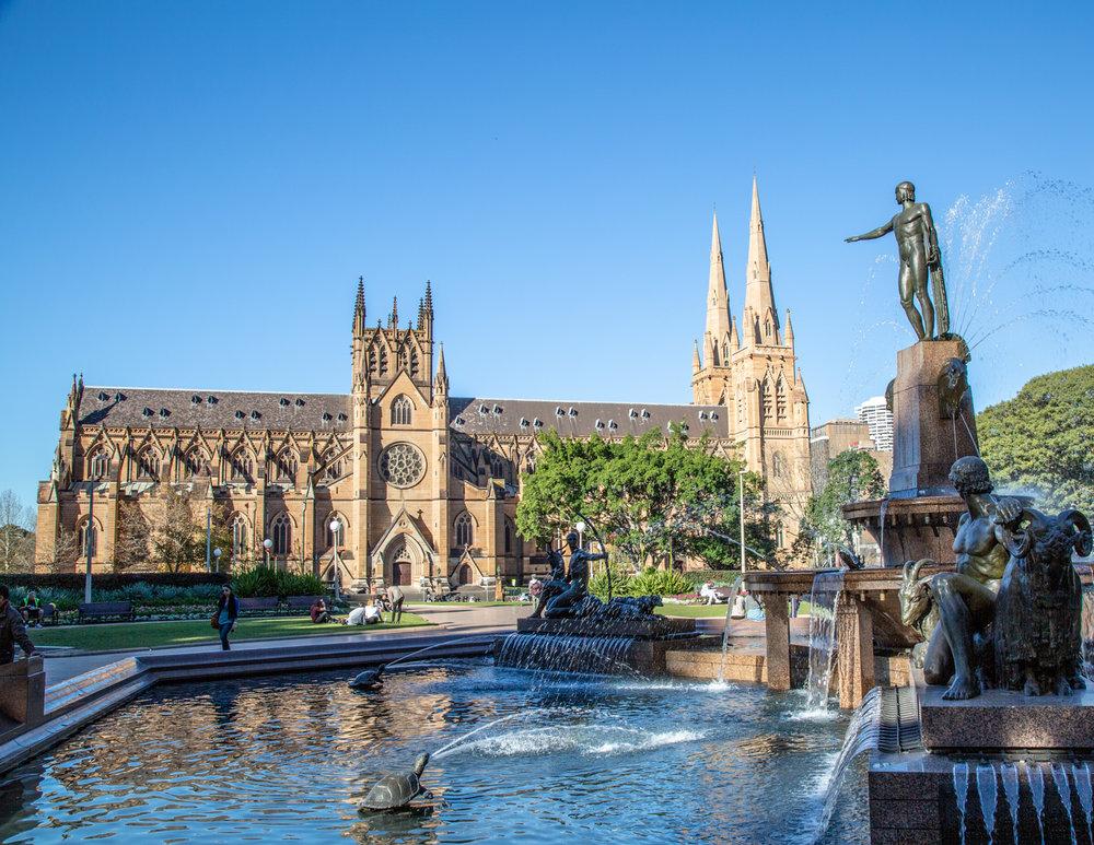 St Mary's Church in Hyde Park, Sydney CBD