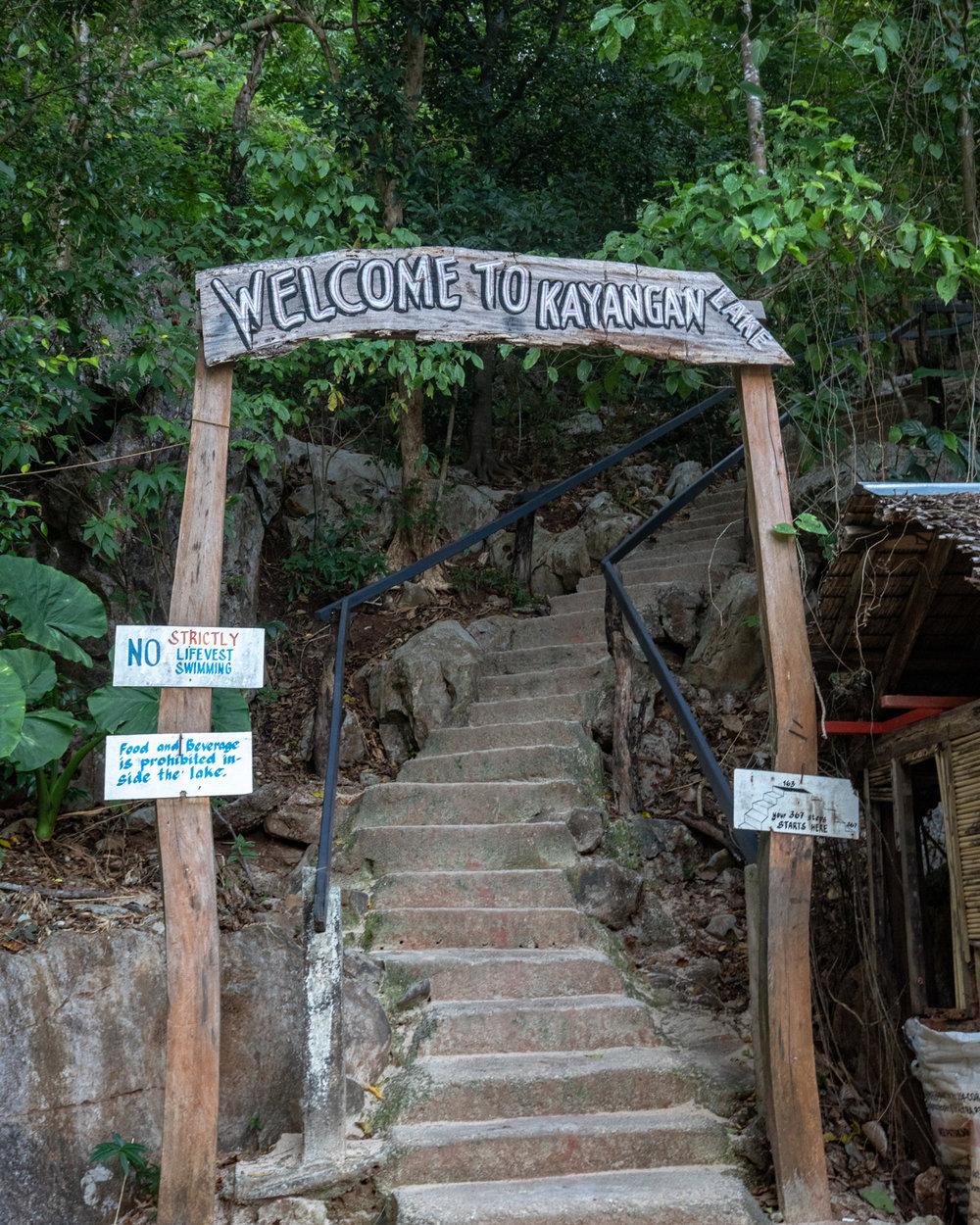 The entry to Kayangan Lake - Coron, Palawan