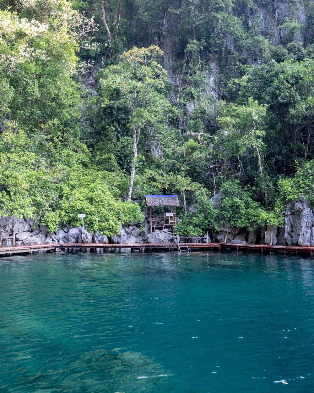 The lifeguard's hut at Kayangan Lake, Coron Palawan
