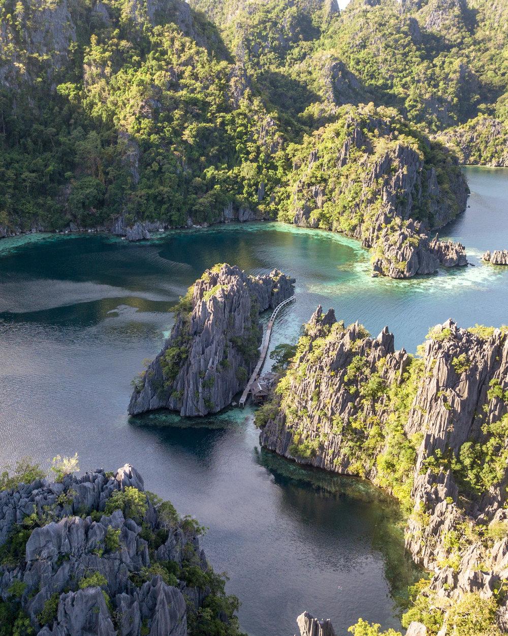 The second lagoon from above - Twin Lagoon, Coron Palawan
