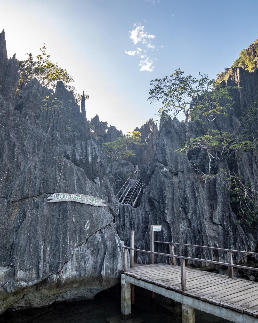 The entrance to Barracuda Lake - Coron Palawan