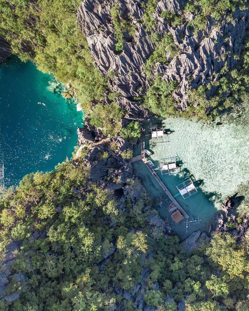 Barracuda Lake in Coron, Palawan
