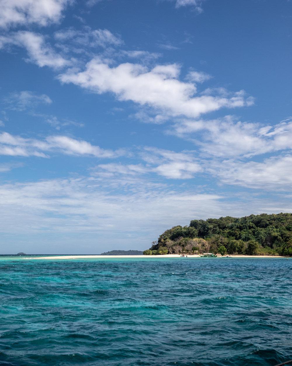 The views of Ditatayan Island from the boat, Coron Palawan
