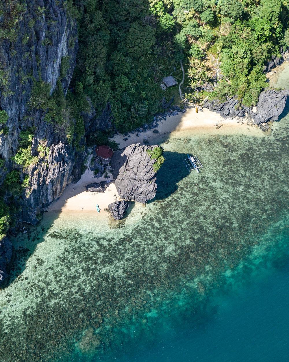 Corong Corong Beach in El Nido, Palawan