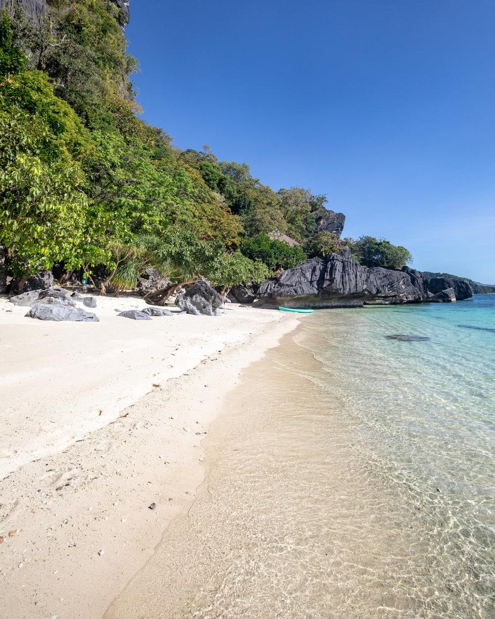 Lapus Lapus Beach in El Nido, Palawan