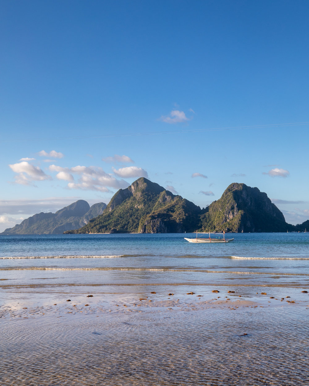The view from Merrimegmeg Beach, Palawan