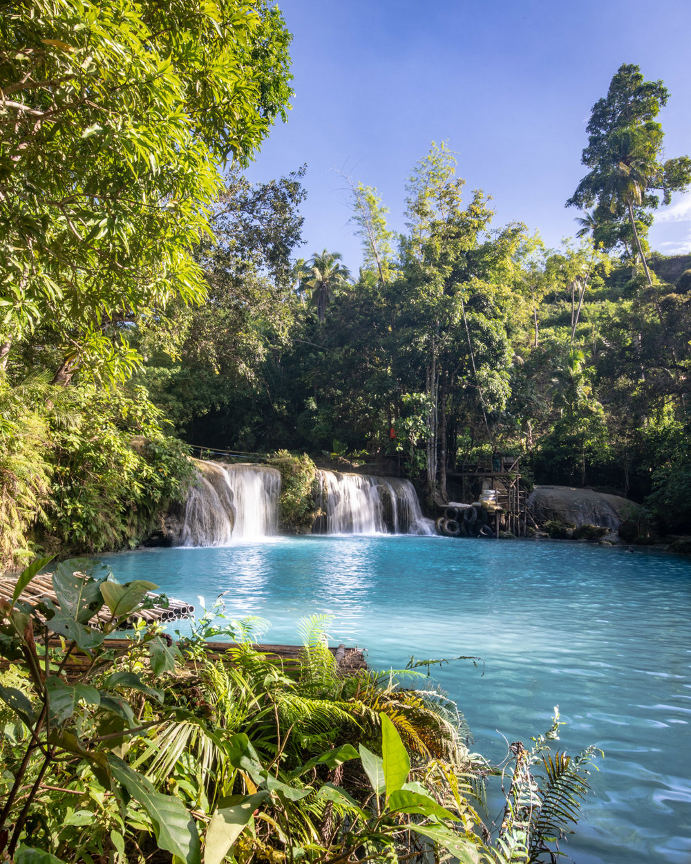 The bottom level of Cambugahay Falls Siquijor