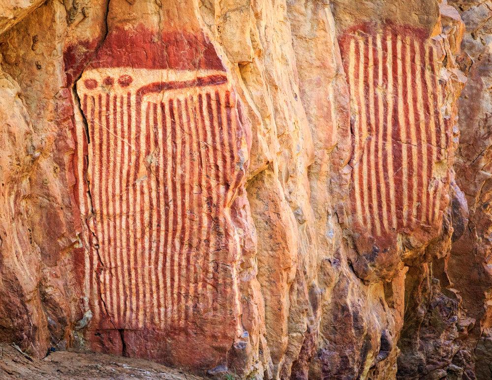 Aboriginal Art at Jessie & Emily Gap, Alice Springs