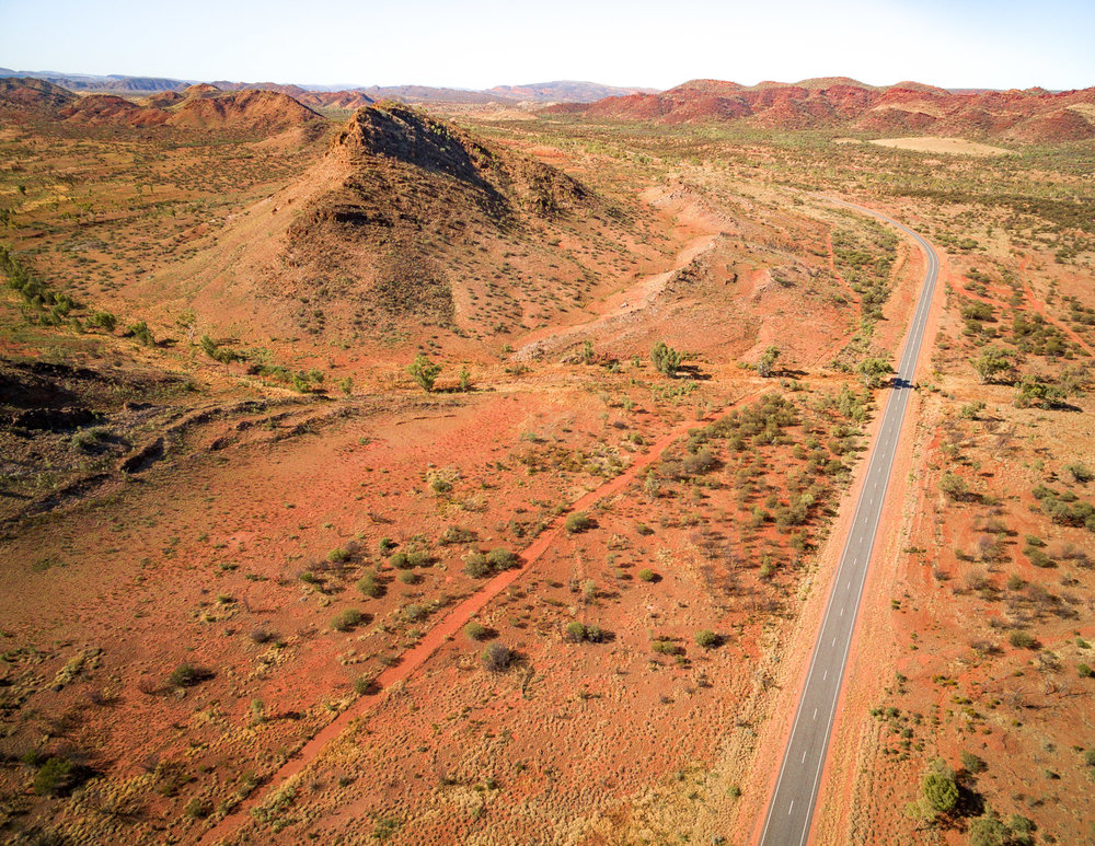 The roads in the East McDonnell Ranges
