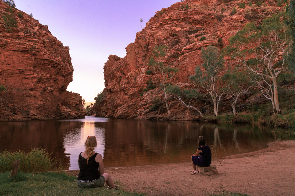 Sunset at Ellery Creek Big Hole - West McDonnell Ranges