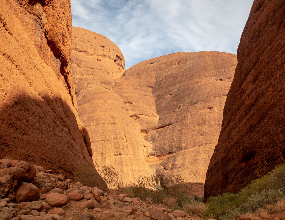 Valley of the winds walk around Kata Tjuta in Central Australia