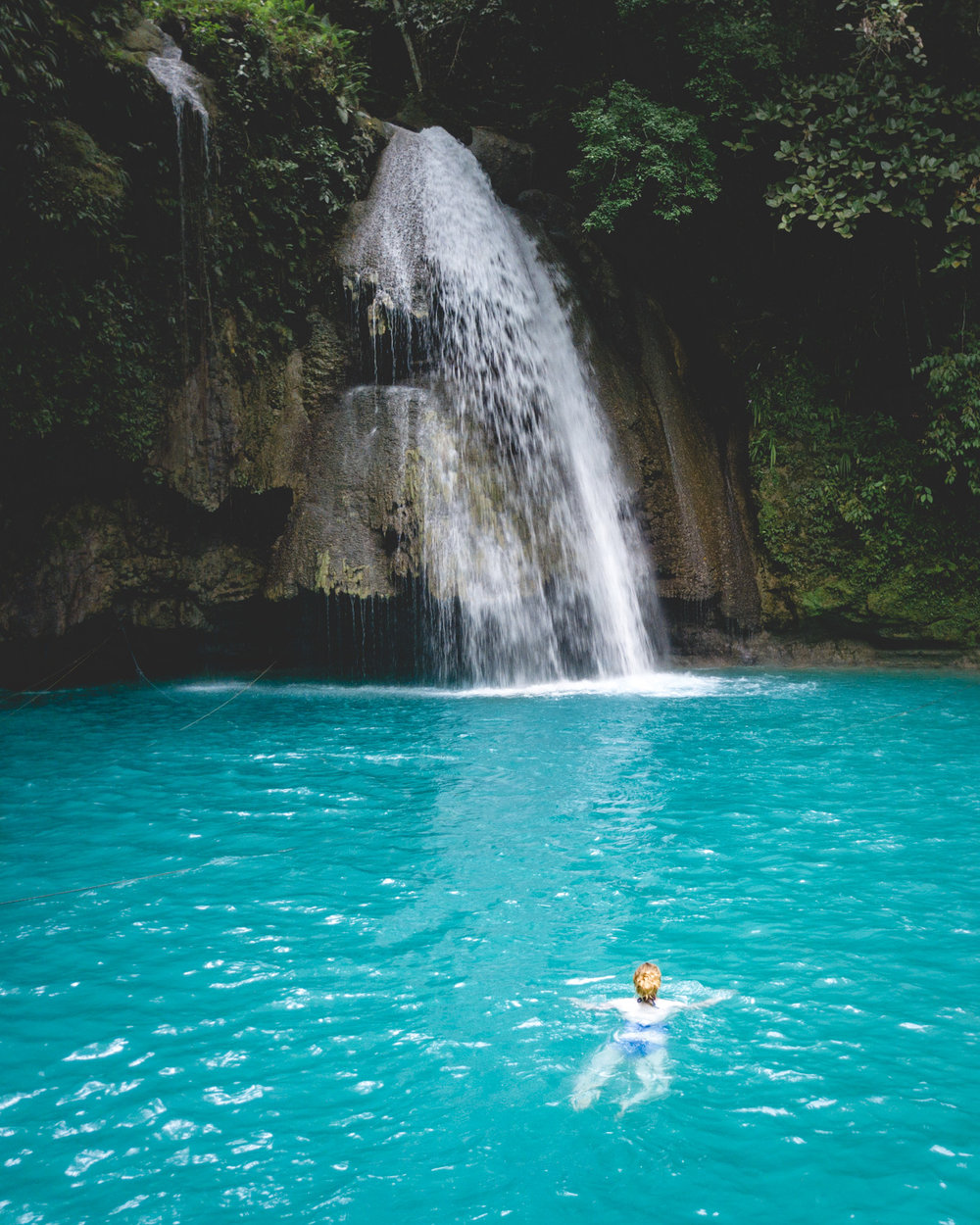 One of the best swimming spots in Cebu - the lower level of Kawasan Falls