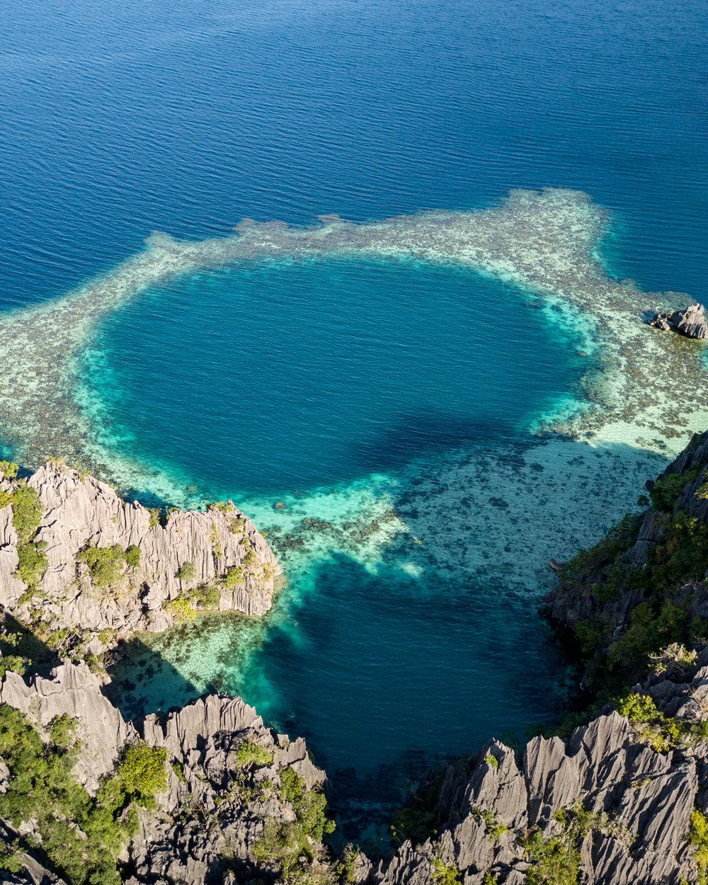 The stunning hidden circular reef in Twin Lagoon - Coron, Philippines