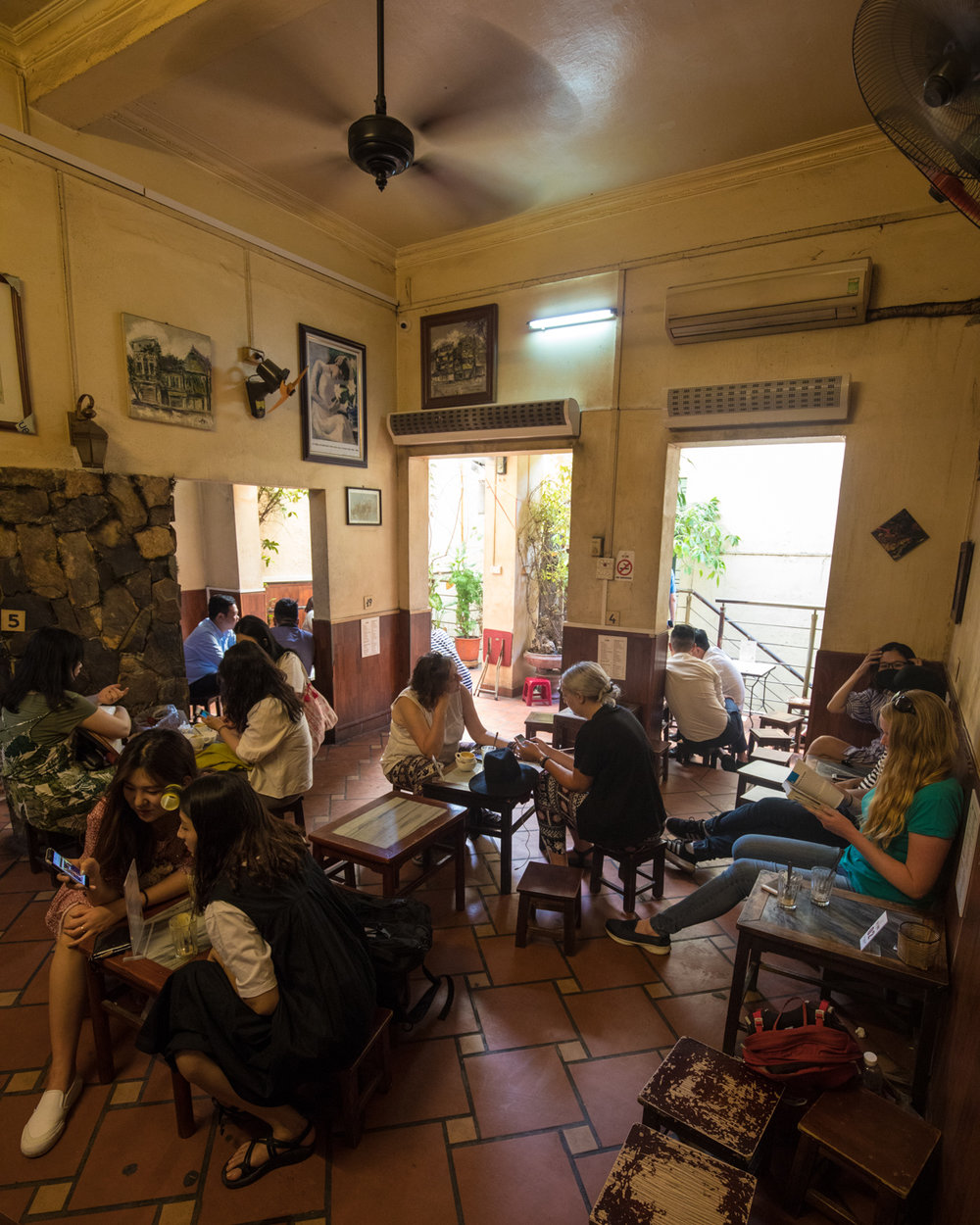 The insider of Giang Coffee in Hanoi